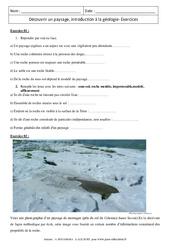 Découvrir un paysage, introduction à la géologie – 5ème – Exercices corrigés - Remédiation – SVT
