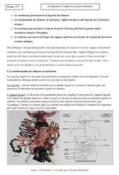 Digestion – Apport des nutriments dans le sang – 5ème – Cours – SVT