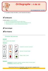 Valeurs de la lettre s ou ss - CE1 - Soutien scolaire - Aide aux devoirs