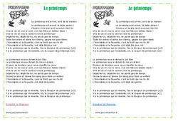 Printemps – Chanson – Michel Fugain – Ce2 – Cm1 – Cm2 – Cycle 3