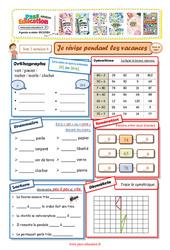 Cahiers de vacances à imprimer - CP vers le Ce1 - Semaine 6 - Août