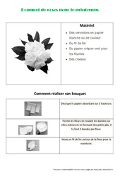 Créer un bouquet de roses en papier pour le printemps – Arts plastiques – Ce2 – Cm1 – Cm2 – Cycle 3