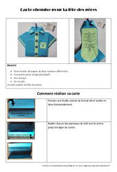 Carte chemise pour la fête des pères – Arts plastiques – Ce2 – Cm1 – Cm2 – Cycle 3
