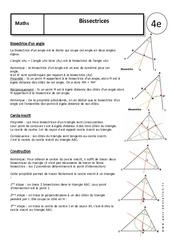 Bissectrices – 4ème – Cours – Géométrie