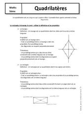 Quadrilatères – 5ème – Cours – Géométrie