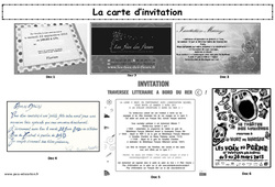 La carte d'invitation - Production d'écrit - Ce2 - Cm1 - Cm2 - Lecture - Ecriture - Cycle 3