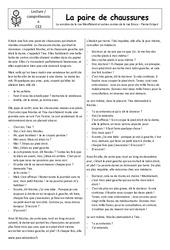 La paire de chaussure - Conte - Lecture compréhension  – Ce2 – Cycle 3