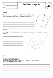 Cercle – Tangente – Exercices corrigés – 4ème – Géométrie