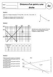 Distance d'un point à une droite – Exercices corrigés – 4ème – Triangle - Géométrie