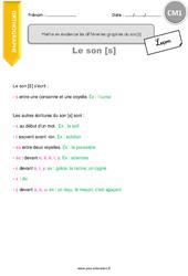 Mettre en évidence les différentes graphies du son [S] - CM1 - Leçon