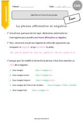 Identifier la forme d'une phrase-CM1 – Leçon