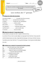 Découvrir comment conjuguer les verbes du 1er groupe au présent de l'indicatif – CM1 – Exercices avec correction
