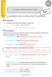 Je conjugue au présent les verbes du 1e groupe - CM2 - Leçon
