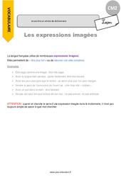 Je comprends des expressions imagées - CM2 - Leçon