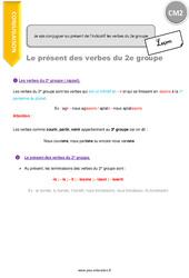 Je sais conjuguer au présent de l'indicatif les verbes du 2e groupe – CM2 – Leçon