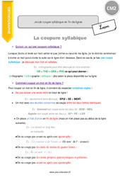 Je sais couper syllabique en fin de lignes – CM2 – Leçon