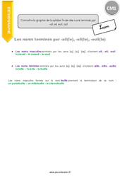 Connaitre la graphie de la syllabe finale des noms terminés par –ail, eil, euil, ouil - CM1 - Leçon