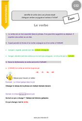 Identifier le verbe dans une phrase simple – CE2 – Leçon