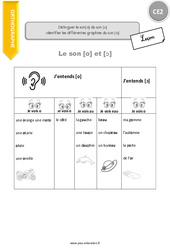 Identifier les différentes graphies du son [o] - CE2 - Leçon