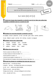 Identifier les différentes graphies du son [o] – CE2 – Exercices à imprimer