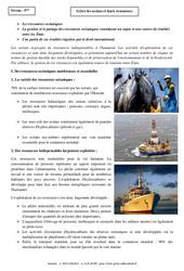 Gérer les océans et leurs ressources – Cours – 5ème – Géographie