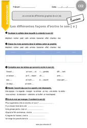 Je découvre les différentes façons d'écrire le son [é] - CE2 - Exercices à imprimer