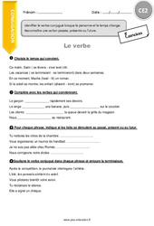 J'identifie le verbe conjugué - CE2 - Exercices avec correction