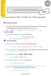 Je sais conjuguer au présent les verbes du 3e groupe – CM2 – Leçon
