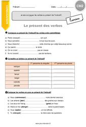 Je sais conjuguer les verbes au présent de l'indicatif (révision) - CM2 - Exercices à imprimer