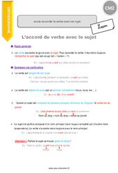 Comment accorder le verbe avec son sujet - CM2 - Leçon