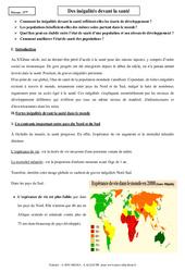 Inégalités devant la santé – Cours – 5ème – Géographie