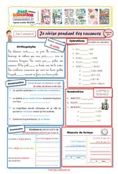 Cahiers de vacances à imprimer – Cm2 vers la 6ème – Semaine 8 – Août