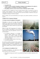 Ménager l'atmosphère – Cours – 5ème – Géographie