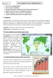 Inégalités devant l'alphabétisation – Cours – 5ème – Géographie