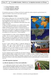 Mobilités humaines – Le Maroc -  Etude de cas – 4ème – Géographie