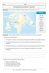 Les lieux de commandement – Exercices corrigés – 4ème – Géographie