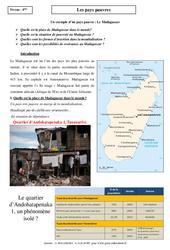 Pays pauvres – Etude de cas – 4ème – Géographie
