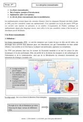 Entreprises transnationales – Cours – 4ème – Géographie