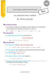 Comment conjuguer au présent les verbes du 3e groupe - CM2 - Leçon