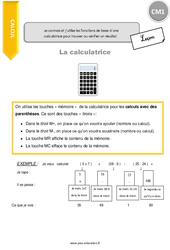 Je connais et j'utilise les fonctions de base d'une calculatrice pour trouver ou vérifier un résultat – CM1 – Leçon