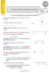Je connais et j'utilise le vocabulaire de géométrie - CM2 - Leçon