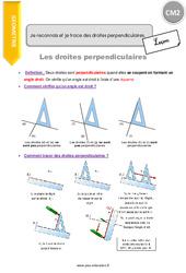 Je reconnais et je trace des droites perpendiculaires - CM2 - Leçon