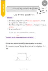 Je reconnais et je trace des droites parallèles - CM2 - Leçon