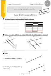 Je reconnais et je trace des droites parallèles - CM2 - Exercices avec correction