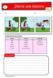 Images séquentielles – CE1 – Exercices – Production d'écrit