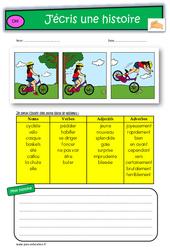 Images séquentielles – CE2 – Exercices – Production d'écrit