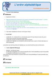 L'ordre alphabétique – CE2 – Soutien scolaire – Aide aux devoirs