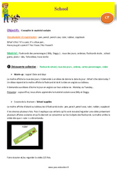 School – CP – Anglais