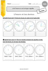 Je lis l'heure sur une horloge à aiguilles - CM1 - Exercices avec correction