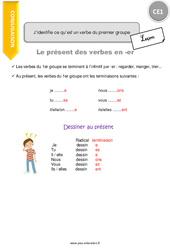 J'identifie ce qu'est un verbe du premier groupe – CE1 – Leçon